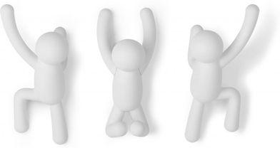 Kleiderhaken Buddy - Wandhaken - Weiß - 3er Set - Umbra